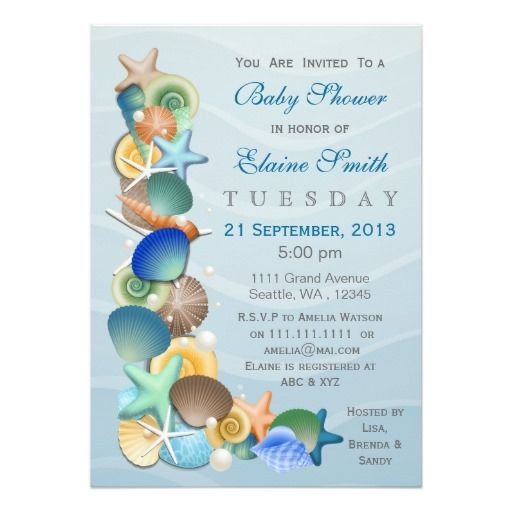 Relatively 925 best Ocean Baby Shower Invitations images on Pinterest  ON62