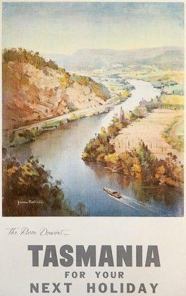 Vintage travel poster :: Tasmania