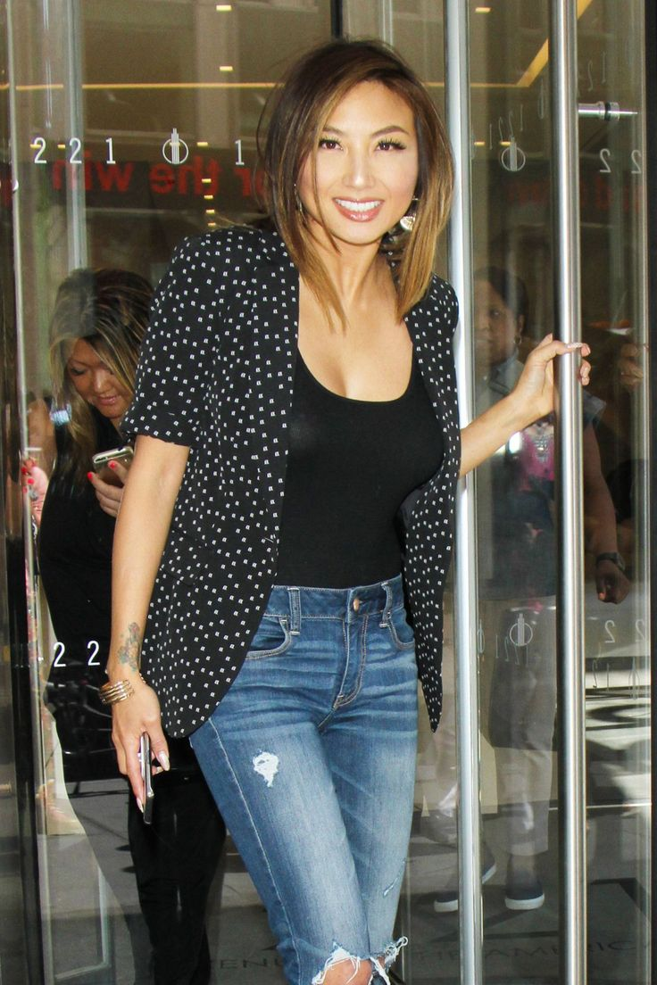 JEANNIE MAI Out in New York actress Jeannie Mai ...