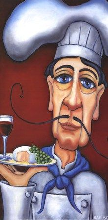 Jacques the Chef by Will Rafuse art print
