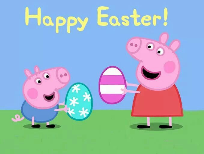 Happy Easter!!! Bebe'!!! From Peppa Pig and little brother ...