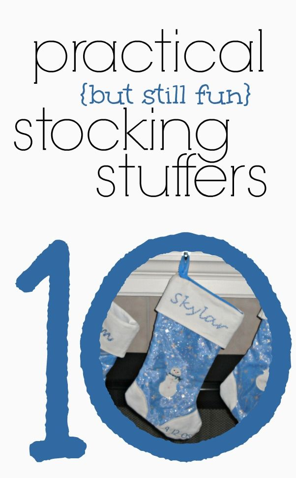 Great list of stocking stuffer ideas! #5 is such a good idea! (Great ideas in the comments too!)