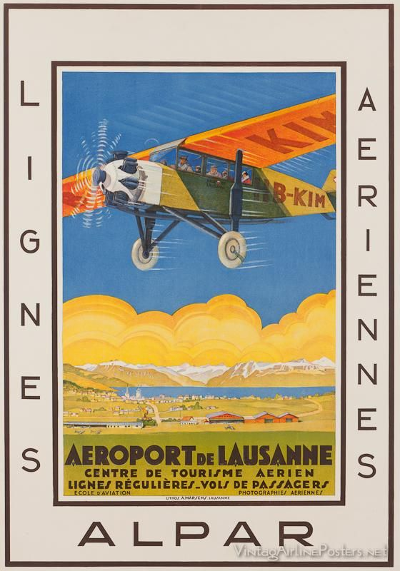 ALPAR (Switzerland) - Lausanne airport   #Vintage #Travel