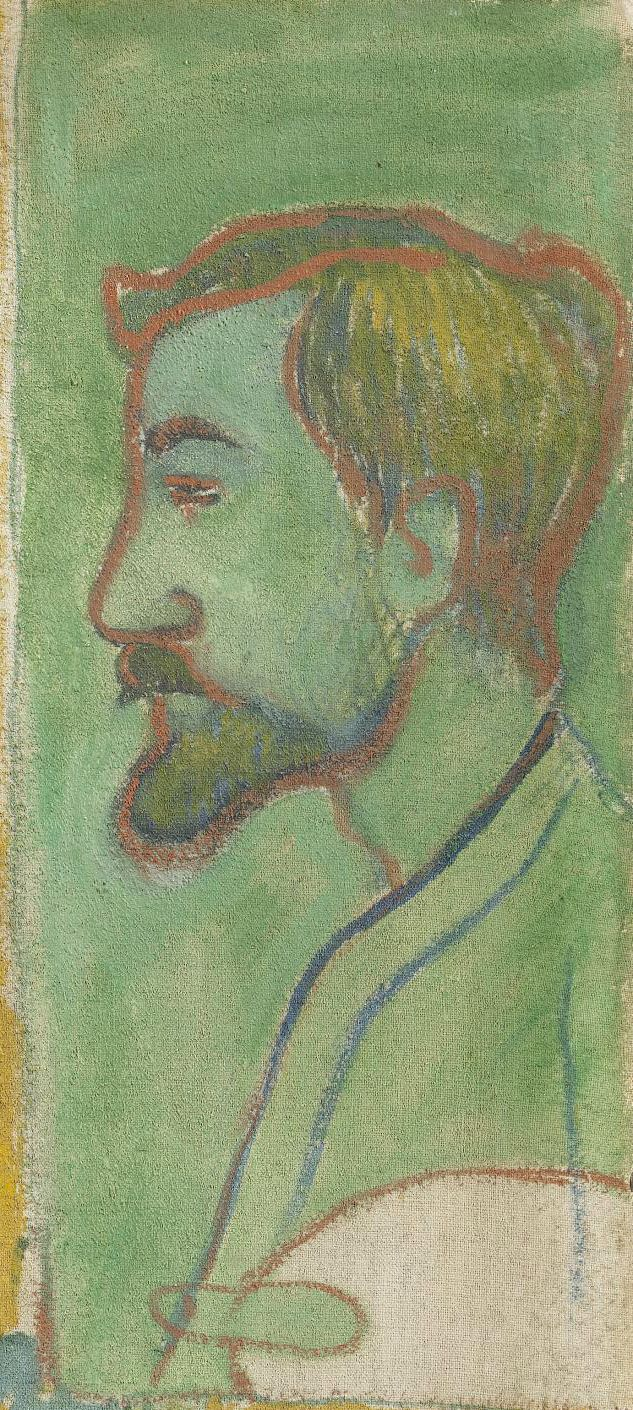 GAUGUIN Paul,1888 - Self-portrait with Portrait of Bernard, 'Les Misérables' - Detail 2