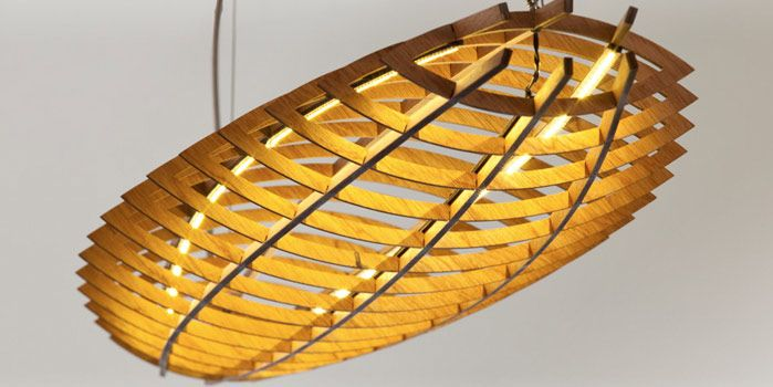 Cummins Design   Furniture Design Up-and-coming designer David Cummins' Hull pendant light is a sculptural piece inspired by the hull structure of a boat and the wing of an aircraft.
