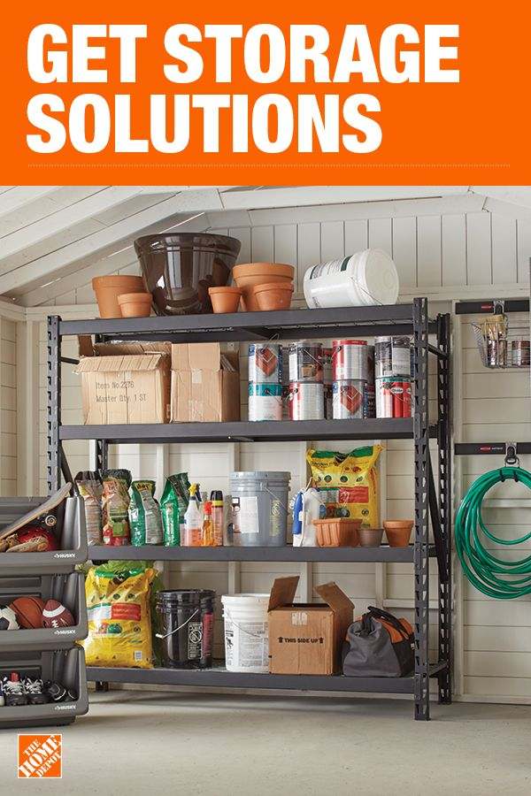 The Home Depot Has Everything You Need For Your Home Improvement Projects Click Through To L Garage Storage Shelves Garage Storage Garage Storage Organization