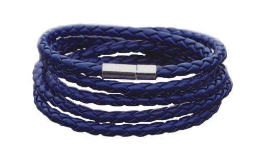 The Adderley Navy Blue Men's Leather Bracelet