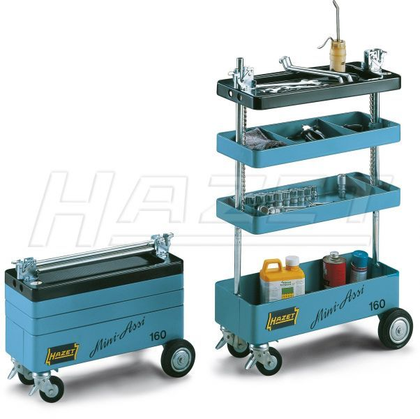 Tool Trolley Assistent - HAZET. Love the way it collapses down taking up less space and keeping dust, etc. out.
