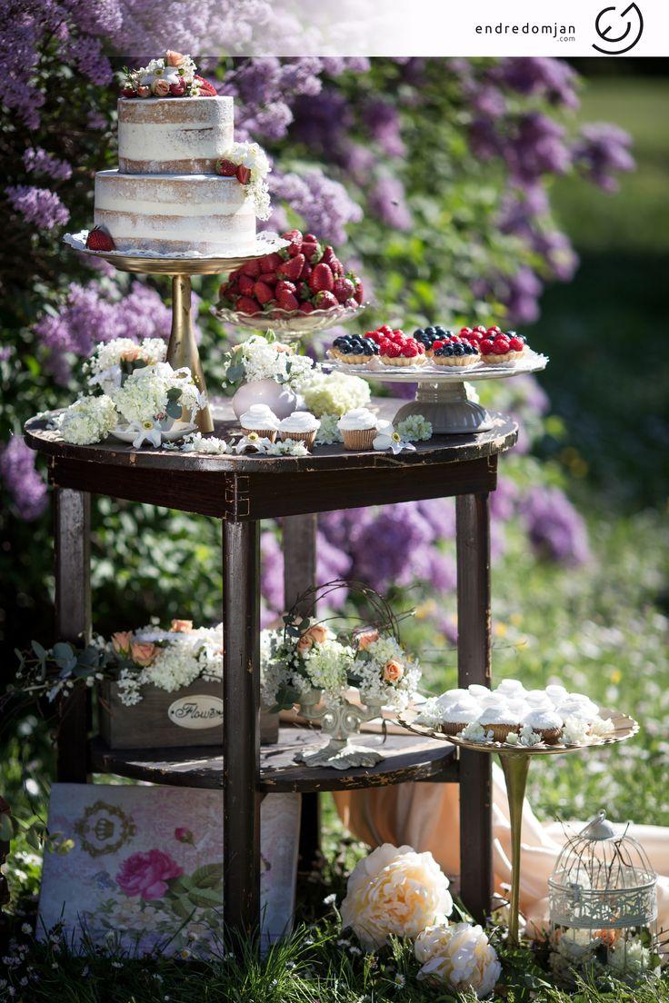 Wedding cake- dessert and fruit bar from Enchantée--- fruitcarving, cakebar, weddingcake, wedding fruit