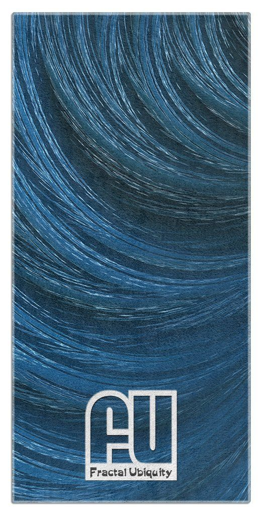 Wind Microfiber Polyester Oversized Beach Towel by Fractal Ubiquity