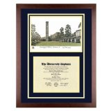 University of California Riverside Diploma Frame with UCR Lithograph Art PrintBy Old School Diploma Frame Co.