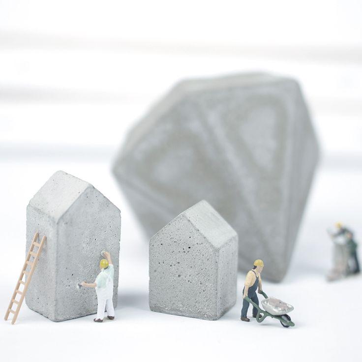 Oh, Beton! Häuschen und Diamanten. Im DaWanda Shop.
