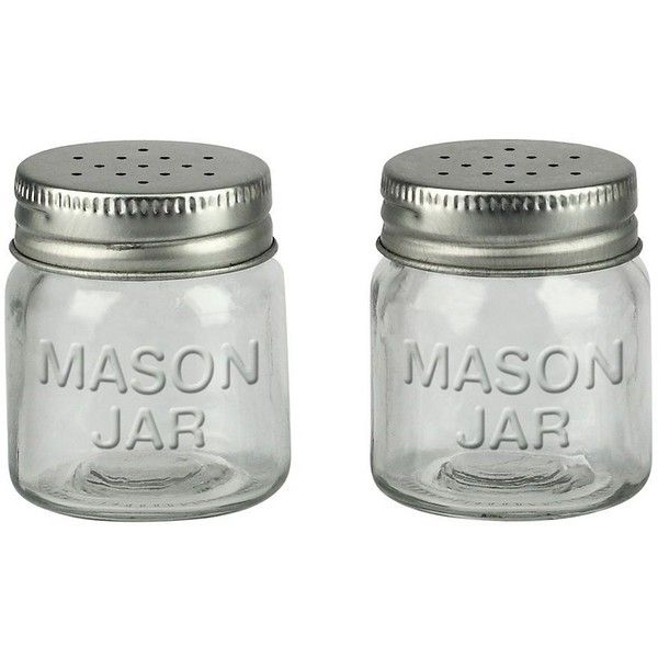 Barbuzzo 2 pc mason jar salt pepper shaker set 5 Salt n pepper pots