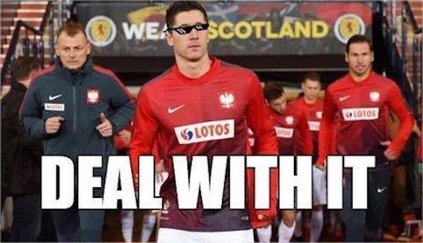 Napastnik Reprezentacji Polski załatwił remis • Robert Lewandowski pogrążył Szkotów w meczu eliminacji Mistrzostw Europy • Zobacz >>