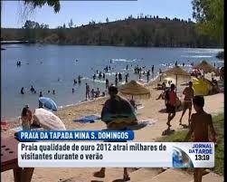 Praia fluvial Mina de Sao Domingos - Conselho Mertola - Portugal