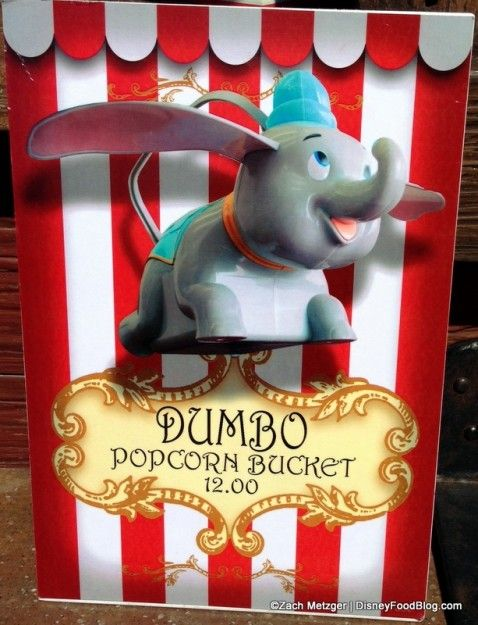 Souvenir Dumbo Popcorn container at Disney   World and Disneyland!!!!