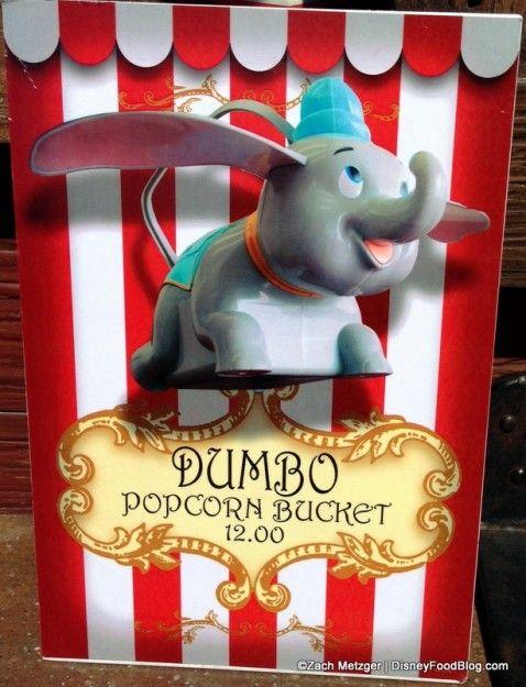 New Souvenir Dumbo Popcorn Container in Disney World's Magic Kingdom