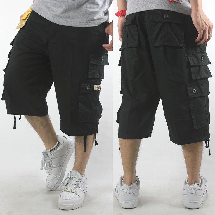 Mens Casual Fashion | 2013 Casual Fashion Mens Cargo Shorts Plus Size Loose Capris Shorts ...