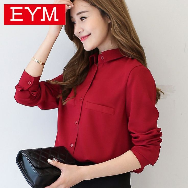 New Casual Women's Long Sleeved Solid Shirt Plus Size Blouse //Price: $18.95 & FREE Shipping //     #stylish