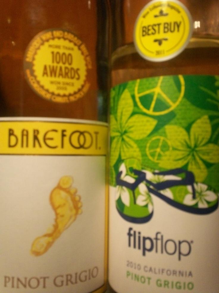 Wine Battle: Pinot Grigio Barefoot vs FlipFlops