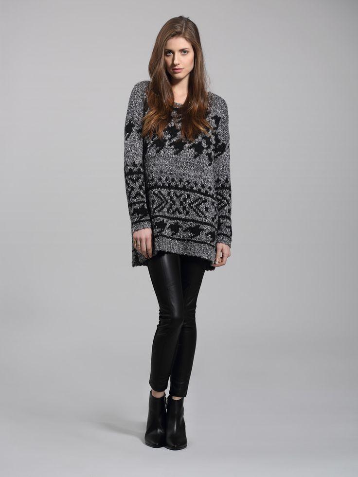 Left on Houston Harrison sweater