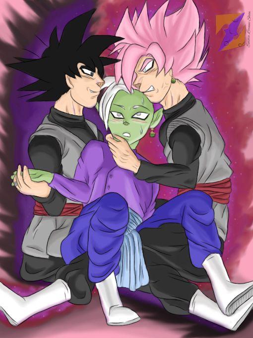 Love Triangle? Goku Black x Zamasu YAOI by ZorArt-DBZGTS
