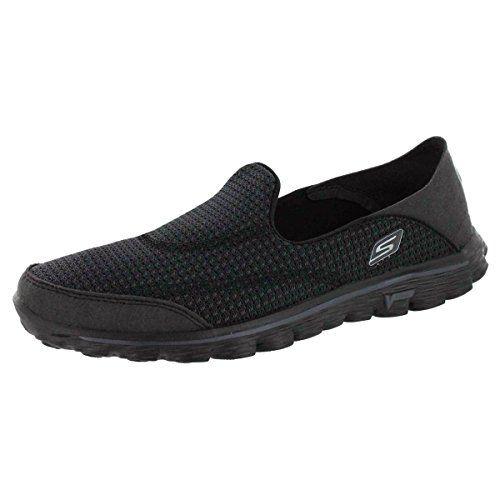 Skechers Performance Women's Go Walk 2 Convertible Slip-On Walking  Shoe,Black,8.5. Mature Women FashionWoman FashionWalking ShoesSports ...