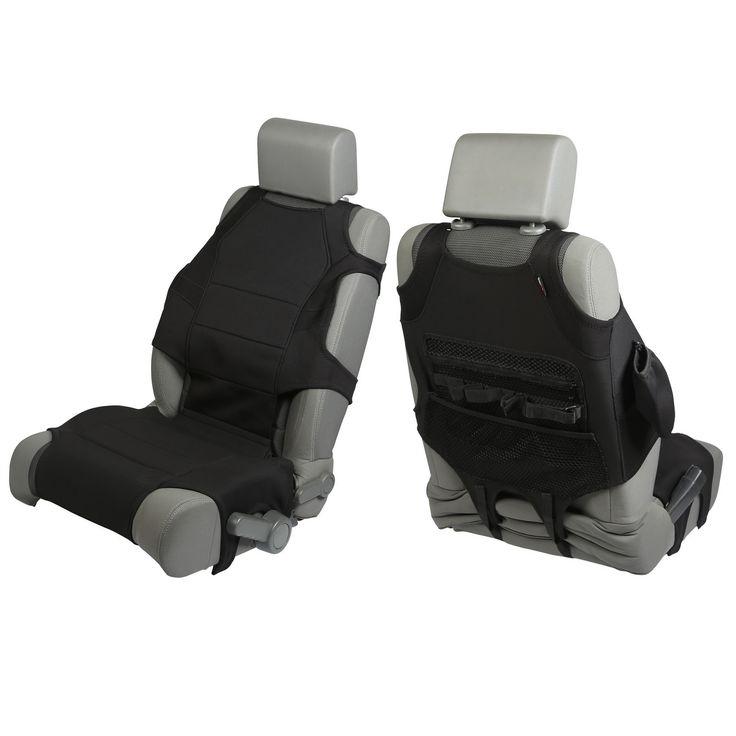Neoprene Seat Protector Vests, Black; 07-16 Jeep Wrangler JK