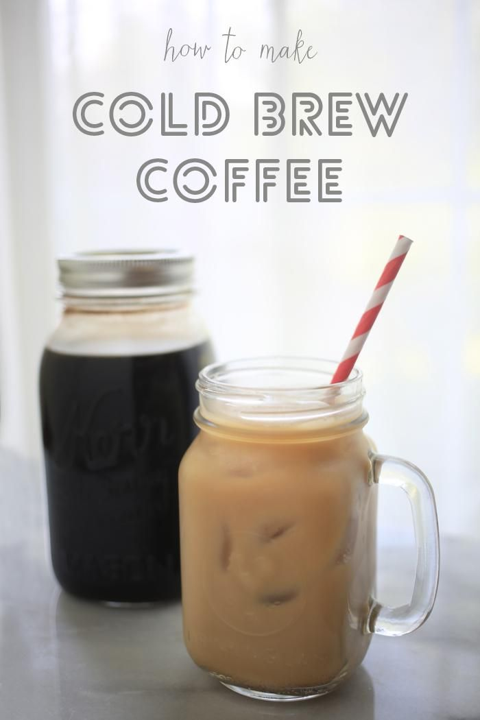 cold brew coffee concentrate (need large mason jar with lid).