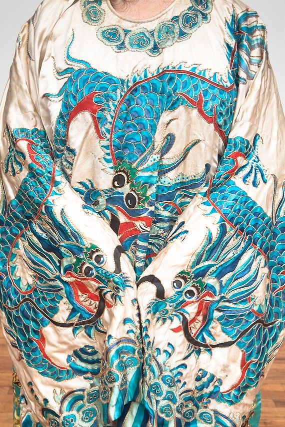 chinese Opera Robe 5 toed Dragon Vintage outerwear by Luxorama, $400.00