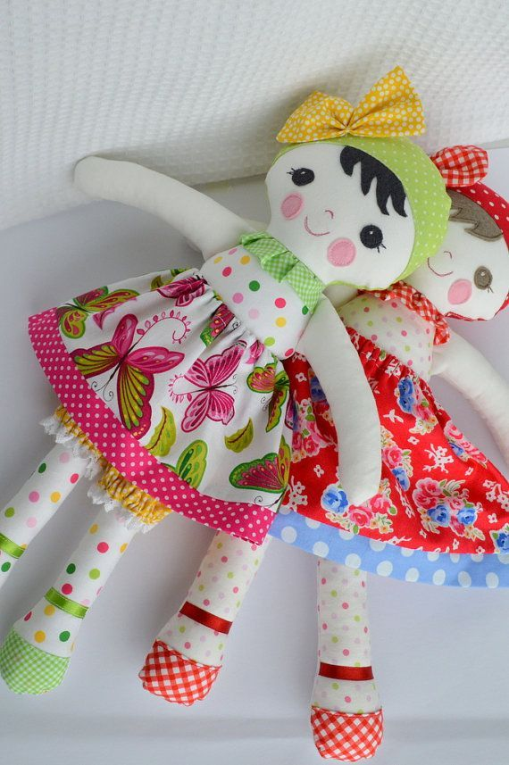 Doll soft toy Dressed doll by GEESPROJECTS