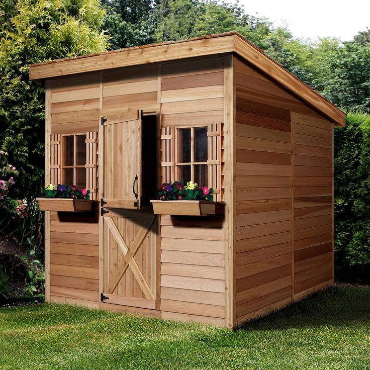 shop cedar shed st96 studio shed at lowes canada find our selection of storage sheds - Garden Sheds Canada
