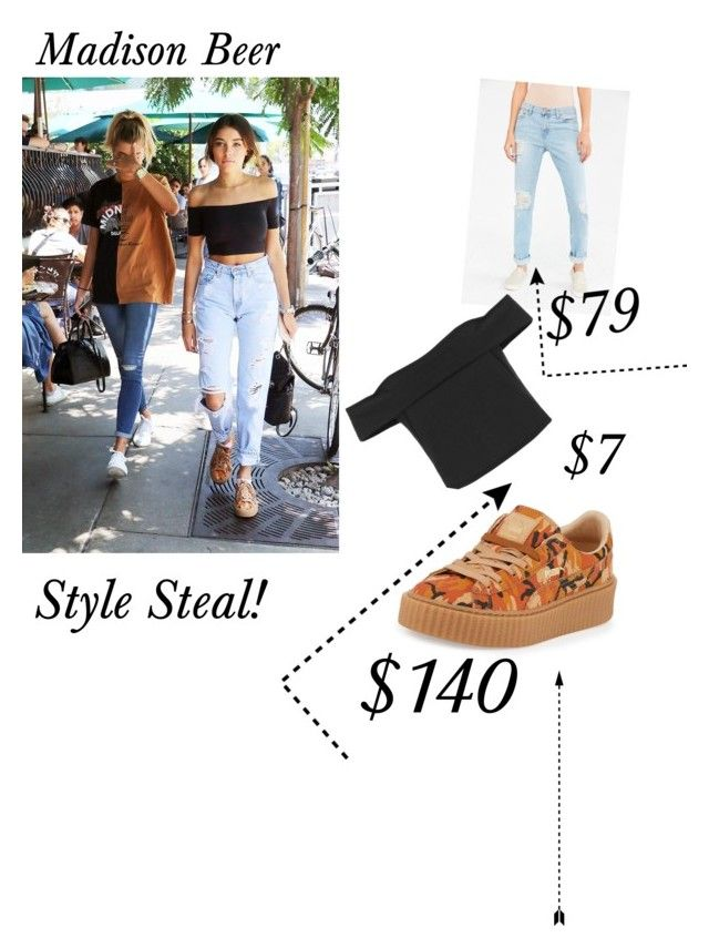 """Madison Beer Style Steal!"" by arianaallard ❤ liked on Polyvore featuring Baldwin, BDG and Puma"