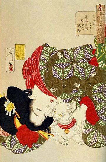 TSUKIOKA Yoshitoshi (1839~1892), woodblock print, Japan 月岡 芳年