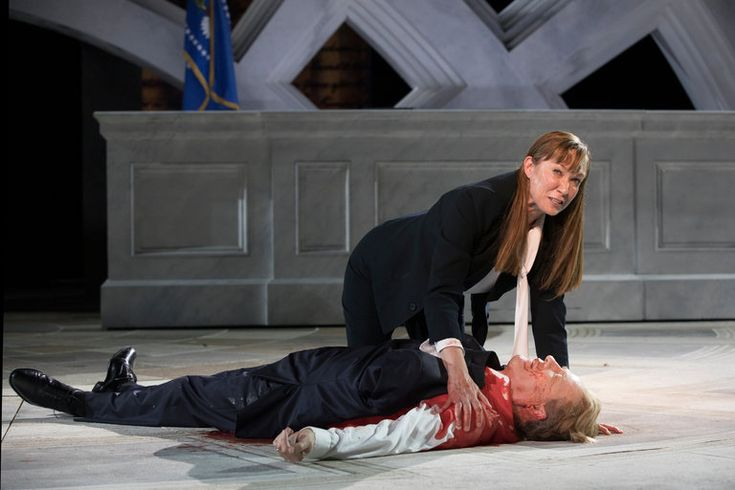A production that assassinates a Julius Caesar styled after the president has provoked a storm of controversy.