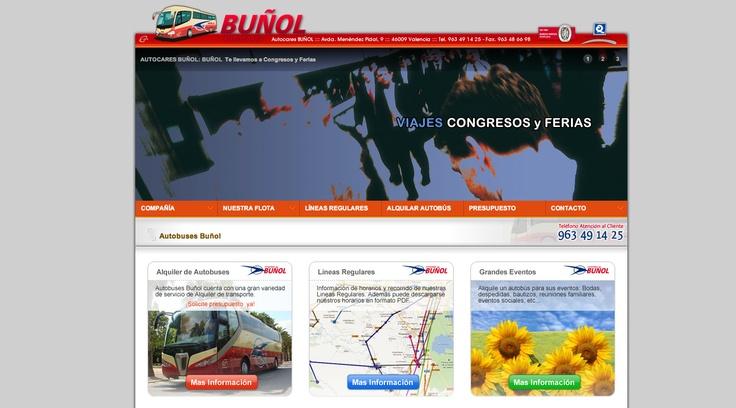 Página Web de Autobuses Bunyol.