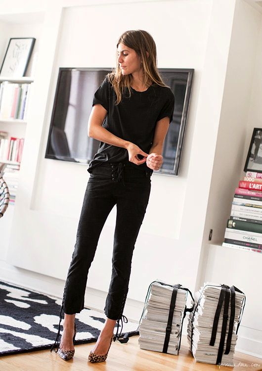 Photo: Garance Doré Morgane Bedel has recently come on my radar. Her edgy black-on-black spring look here is just one of the many reasons. I love that she always has a fresh-face and can't get enough