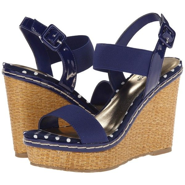 Charles by Charles David Tapia Women's Wedge Shoes, Navy ($20) ❤ liked on Polyvore featuring shoes, sandals, wedges, navy, navy blue shoes, navy shoes, navy wedge shoes, navy blue wedge shoes and navy sandals