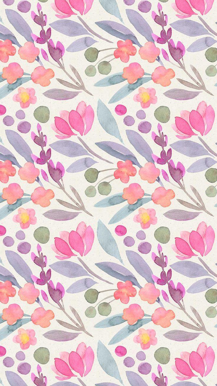 Digital Wallpapers Watercolor Wallpaper Flower Wallpaper
