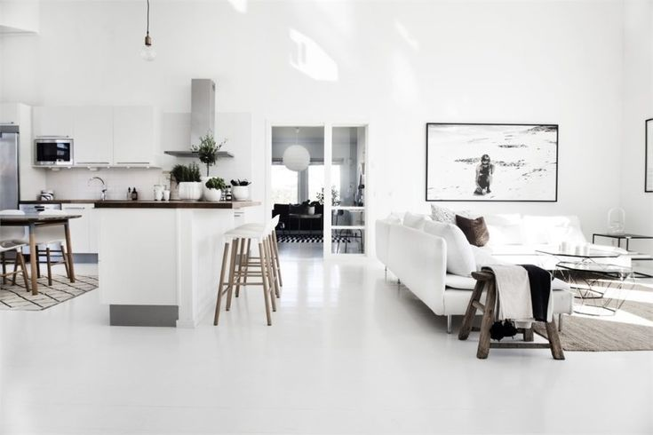 Black and white interior styling