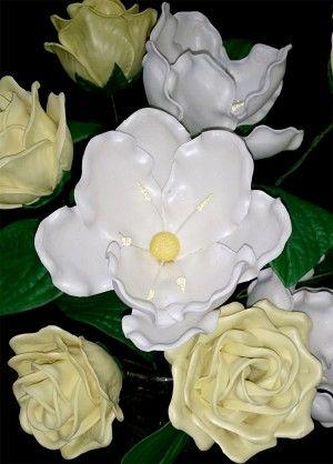 Rosas y Magnolias