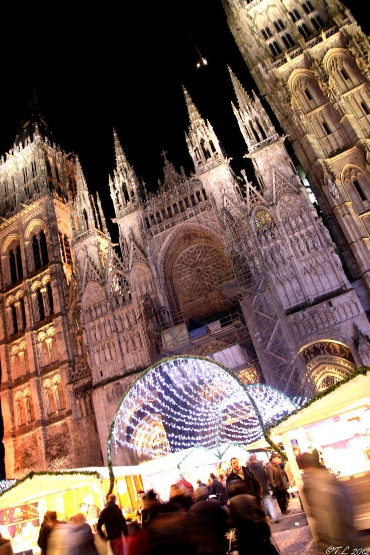 004 - Jeudi 6 décembre 2012 Marché de Noël - Place de la Cathédrale - Rouen