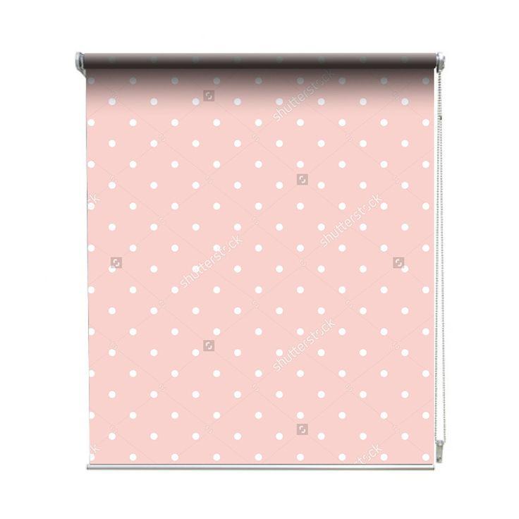 Rolgordijn Pink dots | De rolgordijnen van YouPri zijn iets heel bijzonders! Maak keuze uit een verduisterend of een lichtdoorlatend rolgordijn. Inclusief ophangmechanisme voor wand of plafond! #rolgordijn #gordijn #lichtdoorlatend #verduisterend #goedkoop #voordelig #polyester #stippen #stipjes #babykamer #baby #meisjeskamer #meidenkamer #meisje #roze #lichtroze
