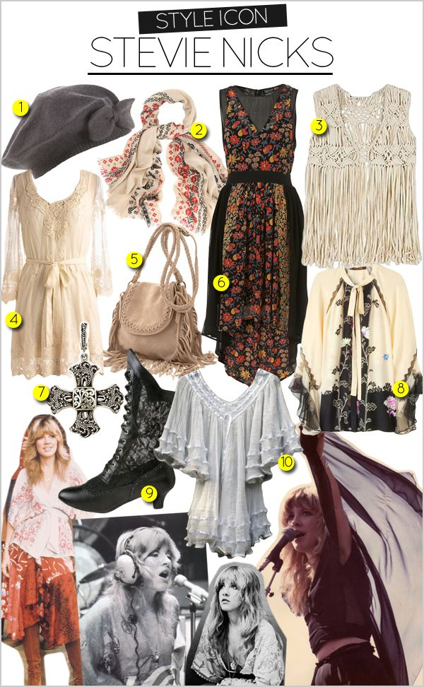 ☮ American Hippie Bohemian Boho Style ~ Outfits .. Stevie Nicks style clothing