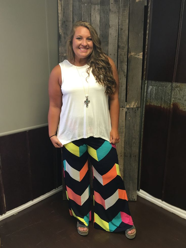 Plus Size Chevron Pants