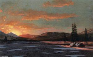 William Bradford - Winter Sunset