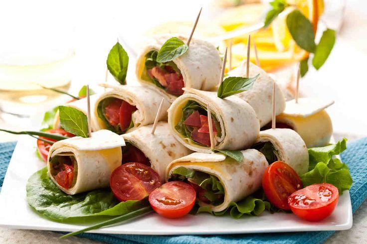 Rolls of thin lavash - Delicious chicken salad with vegetables wrapped in convenient rolls of pita is perfect for parties, receptions and a picnic area. - Удобная и любимая многими закуска из лаваша. Отделы интернационального хлеба сейчас есть в каждом крупном супермаркете, так, что приобрести тонкий лаваш будет просто. Вкусный куриный салат с овощами завёрнутый в удобные роллы из лаваша идеально подходит для вечеринки, фуршета и просто пикника. *****This is in Russian - Brandon