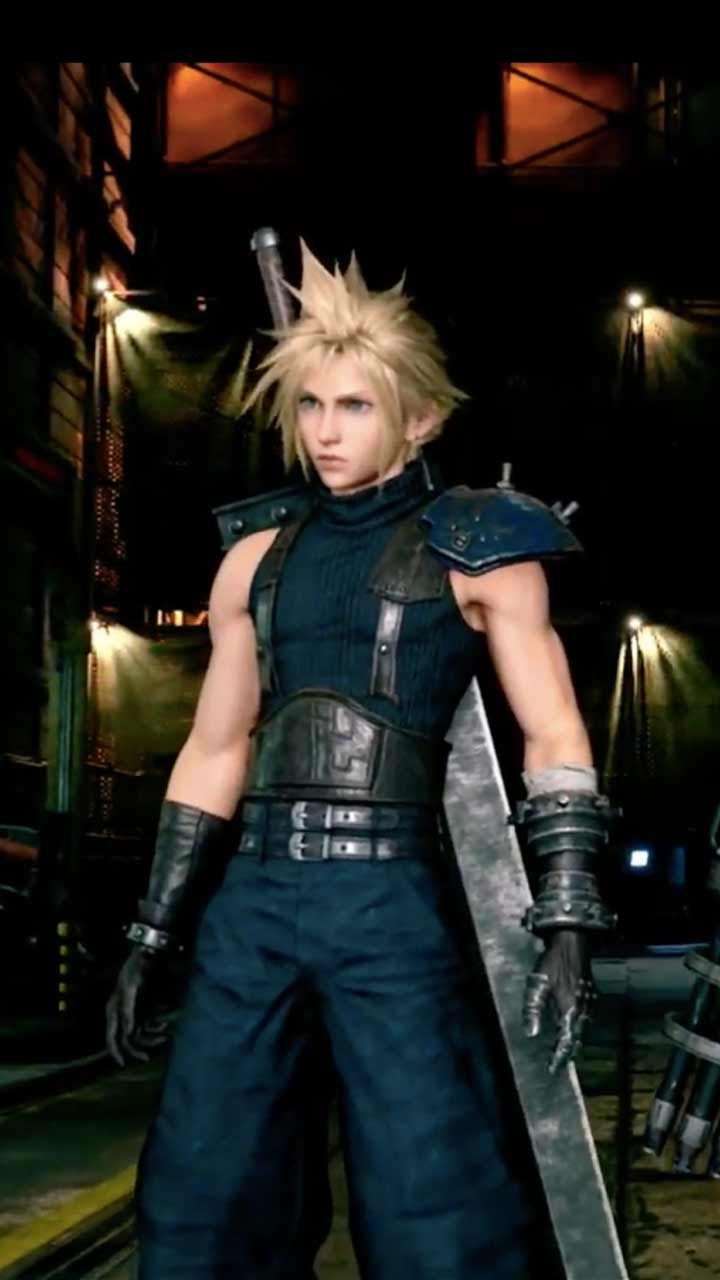 Final Fantasy 7 Remake Wallpaper Hd Phone Backgrounds Ps4 Game Art Poster Logo On Iphone Android Final Fantasy Final Fantasy Cloud Final Fantasy Vii Remake