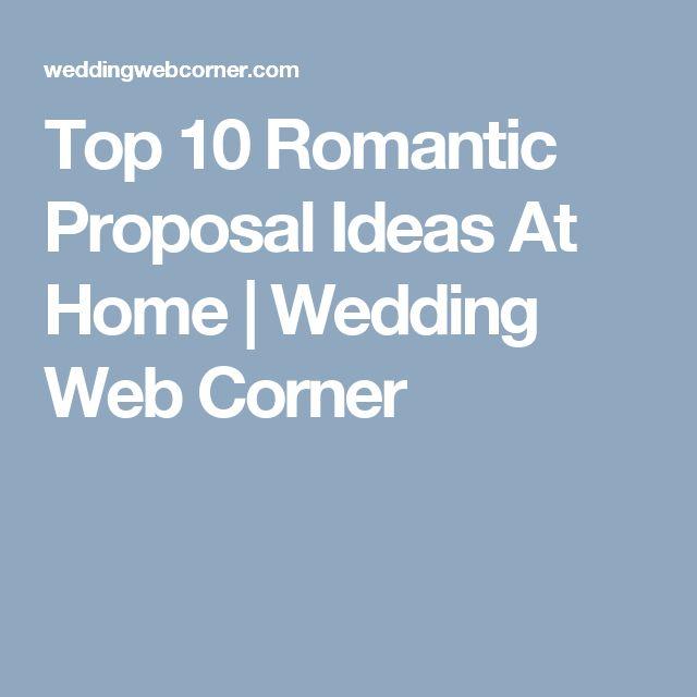 Top 10 Romantic Proposal Ideas At Home | Wedding Web Corner