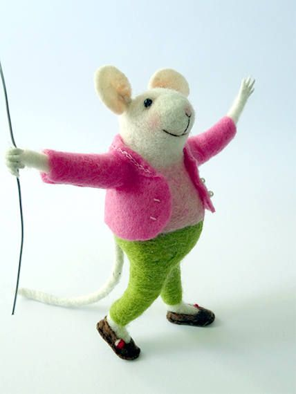 #Tiny #mouse #with #balloon #Needle #felted #mouse #Miniature